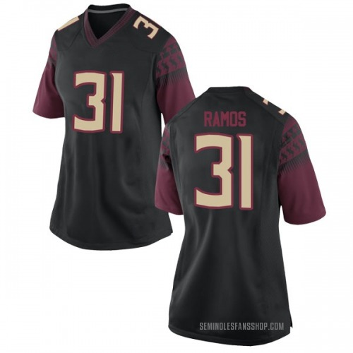 Women's Nike Yanni Ramos Florida State Seminoles Replica Black Football College Jersey