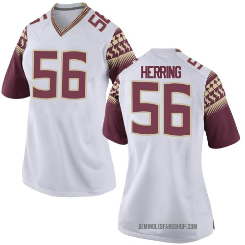 Women's Nike Zane Herring Florida State Seminoles Game White Custom Football College Jersey