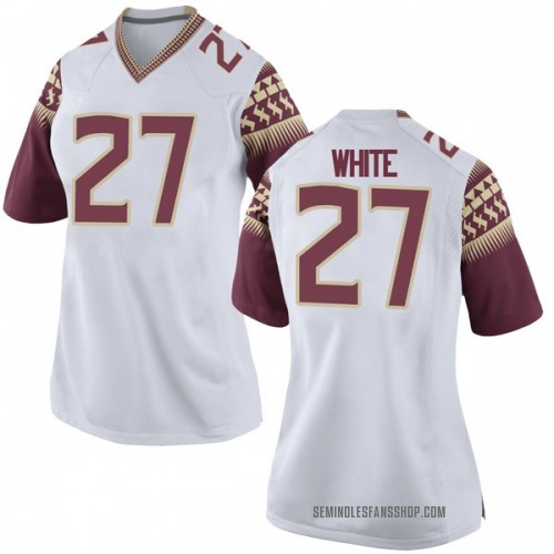 Women's Nike Zaquandre White Florida State Seminoles Game White Football College Jersey
