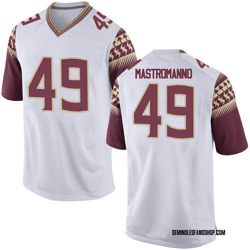 Youth Nike Alex Mastromanno Florida State Seminoles Game White Custom Football College Jersey