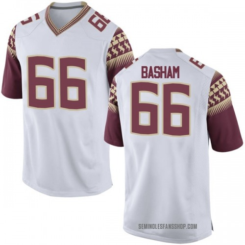 Youth Nike Andrew Basham Florida State Seminoles Game White Football College Jersey