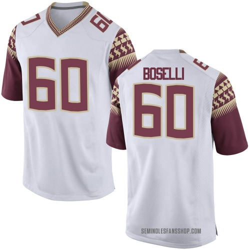 Youth Nike Andrew Boselli Florida State Seminoles Replica White Football College Jersey