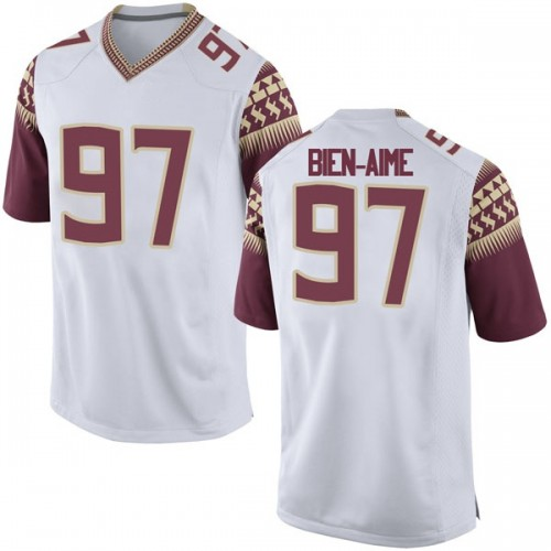 Youth Nike Andy Bien-Aime Florida State Seminoles Game White Football College Jersey
