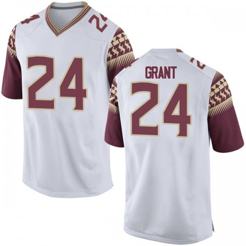 Youth Nike Anthony Grant Florida State Seminoles Game White Football College Jersey
