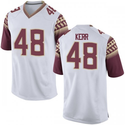 Youth Nike Armani Kerr Florida State Seminoles Game White Football College Jersey