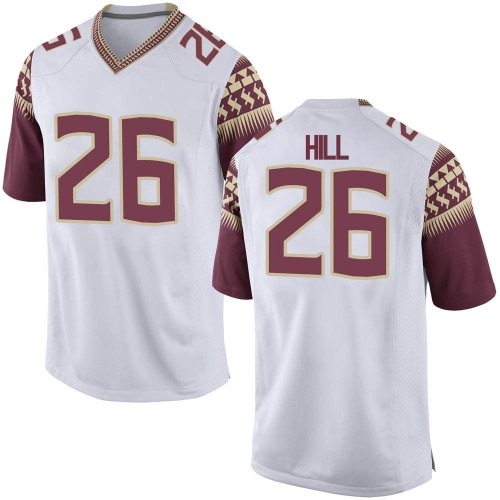 Youth Nike Bryson Hill Florida State Seminoles Replica White Football College Jersey