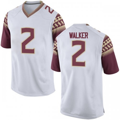 Youth Nike CJ Walker Florida State Seminoles Game White Football College Jersey