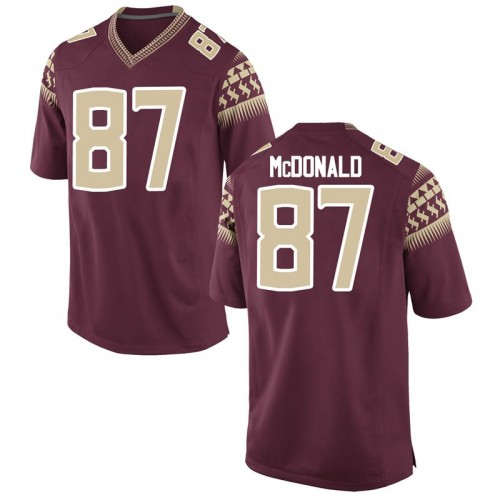 Youth Nike Camren McDonald Florida State Seminoles Game Garnet Football College Jersey