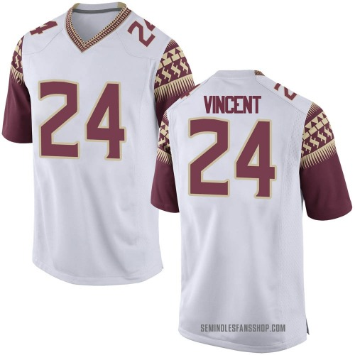 Youth Nike Cedric Vincent Florida State Seminoles Game White Custom Football College Jersey