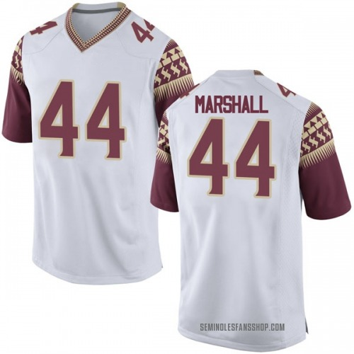 Youth Nike Chandler Marshall Florida State Seminoles Game White Football College Jersey