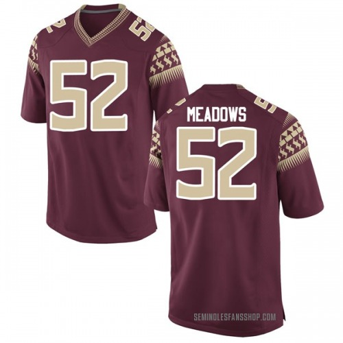 Youth Nike Christian Meadows Florida State Seminoles Game Garnet Football College Jersey