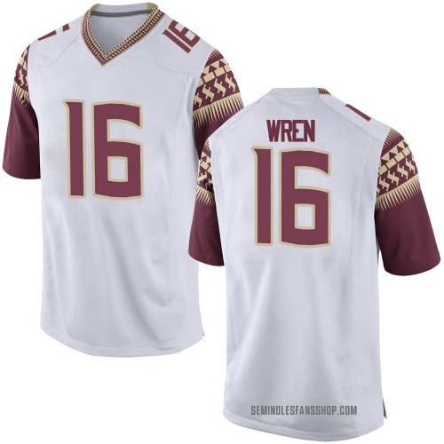 Youth Nike Corey Wren Florida State Seminoles Replica White Football College Jersey