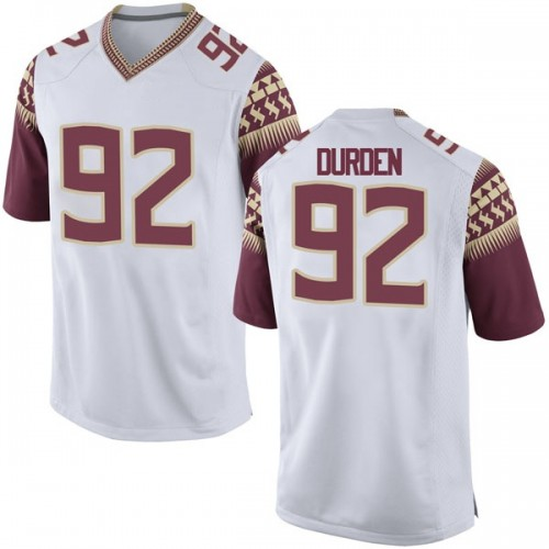 Youth Nike Cory Durden Florida State Seminoles Game White Football College Jersey