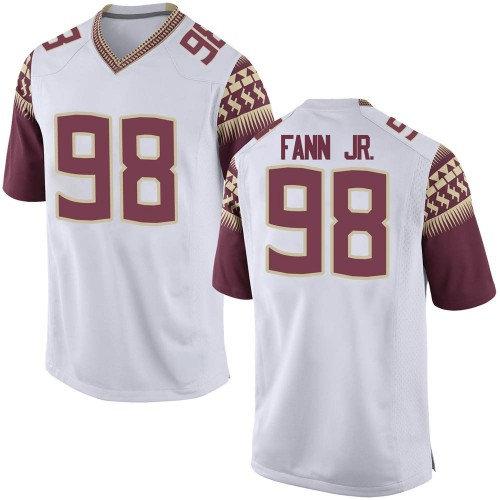 Youth Nike Curtis Fann Jr. Florida State Seminoles Game White Football College Jersey