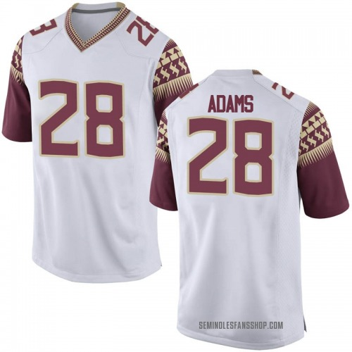 Youth Nike D'Marcus Adams Florida State Seminoles Game White Football College Jersey
