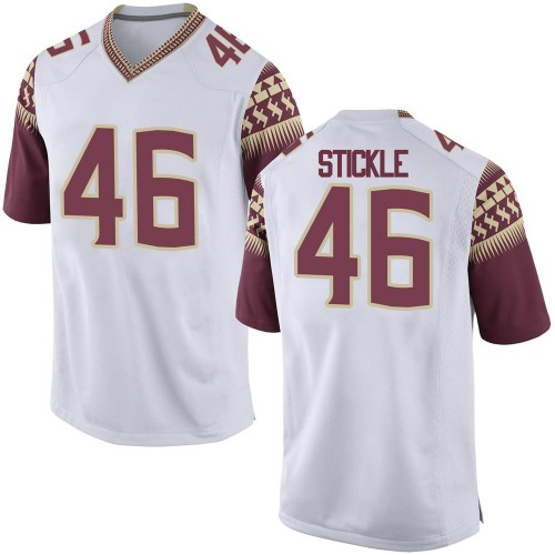 Youth Nike David Stickle Florida State Seminoles Game White Football College Jersey