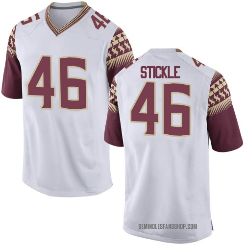 Youth Nike David Stickle Florida State Seminoles Replica White Football College Jersey