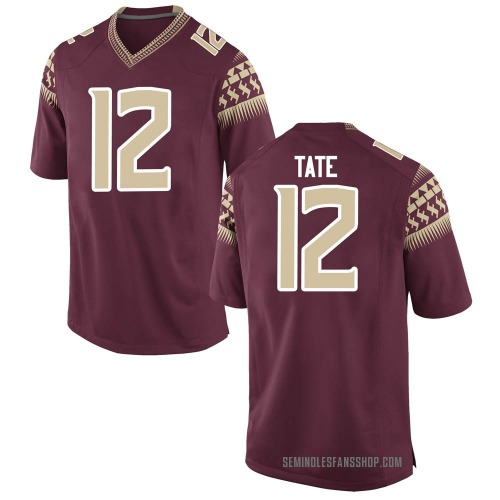 Youth Nike Demorie Tate Florida State Seminoles Replica Garnet Football College Jersey