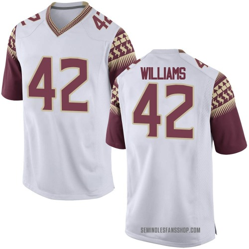 Youth Nike Deonte Williams Florida State Seminoles Game White Football College Jersey