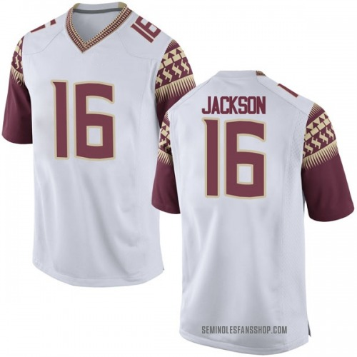 Youth Nike Dontavious Jackson Florida State Seminoles Game White Football College Jersey