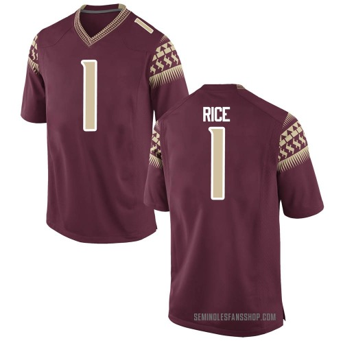 Youth Nike Emmett Rice Florida State Seminoles Replica Garnet Football College Jersey