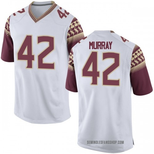 Youth Nike Garrett Murray Florida State Seminoles Game White Football College Jersey