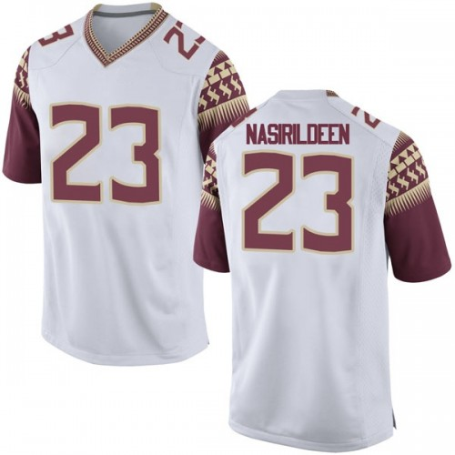 Youth Nike Hamsah Nasirildeen Florida State Seminoles Game White Football College Jersey