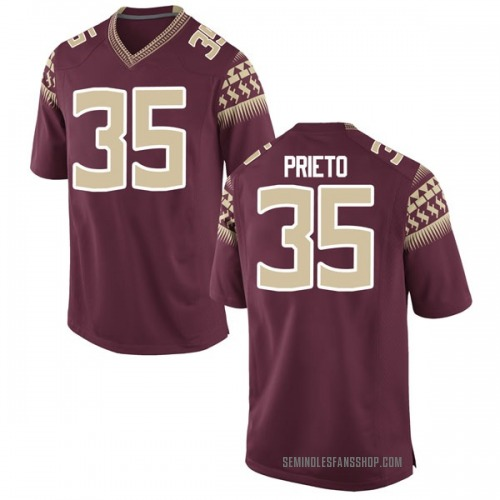 Youth Nike Harrison Prieto Florida State Seminoles Game Garnet Football College Jersey