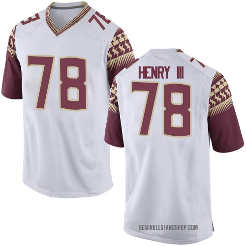 Youth Nike Ira Henry III Florida State Seminoles Game White Football College Jersey