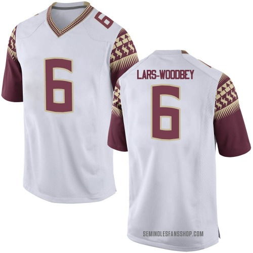 Youth Nike Jaiden Lars-Woodbey Florida State Seminoles Replica White Football College Jersey