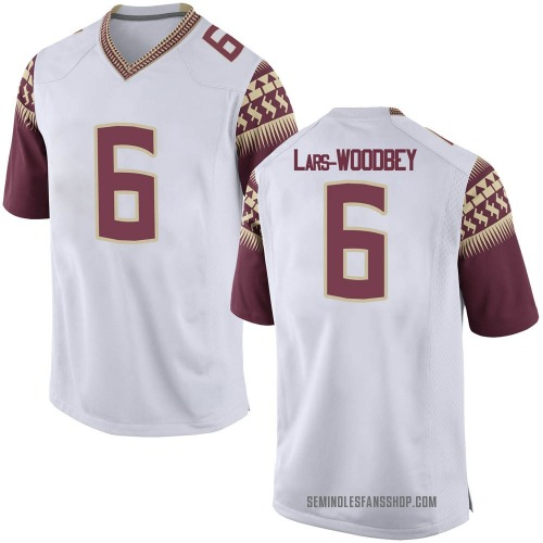 Youth Nike Jaiden Woodbey Florida State Seminoles Game White Football College Jersey