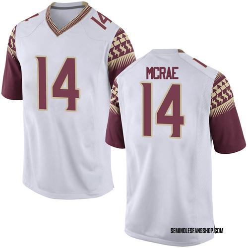 Youth Nike Jaleel McRae Florida State Seminoles Game White Football College Jersey