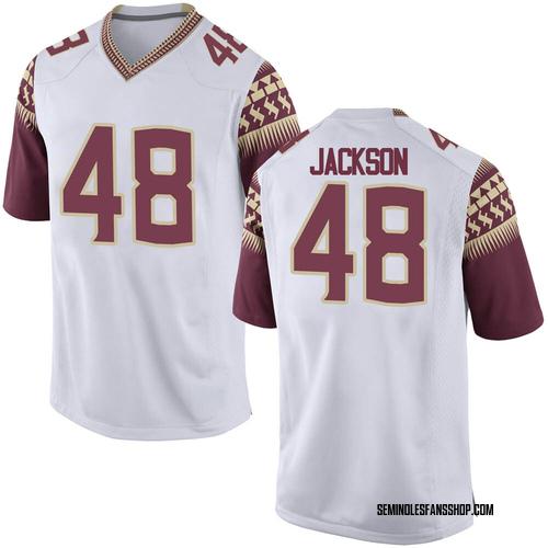 Youth Nike Jarrett Jackson Florida State Seminoles Game White Custom Football College Jersey