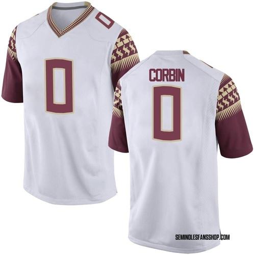 Youth Nike Jashaun Corbin Florida State Seminoles Replica White Custom Football College Jersey