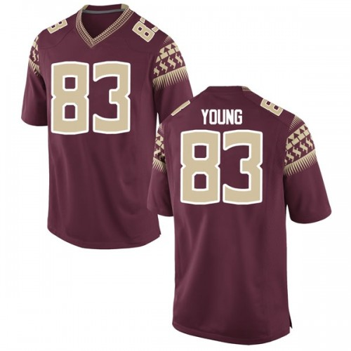 Youth Nike Jordan Young Florida State Seminoles Replica Garnet Football College Jersey