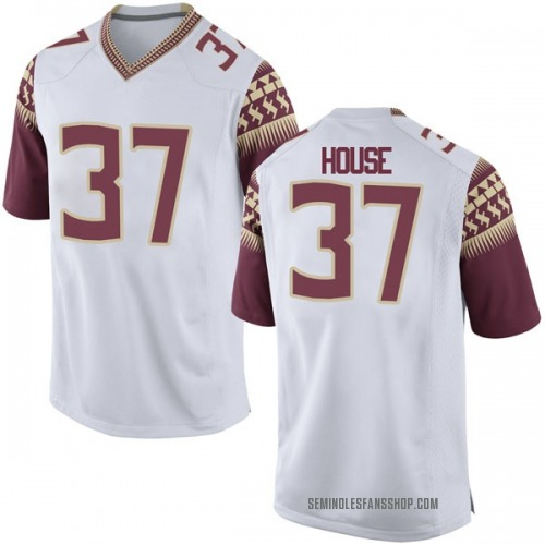 Youth Nike Kameron House Florida State Seminoles Game White Football College Jersey