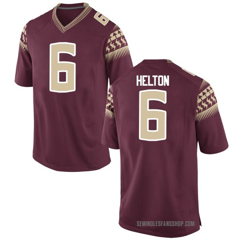 Youth Nike Keyshawn Helton Florida State Seminoles Game Garnet Football College Jersey
