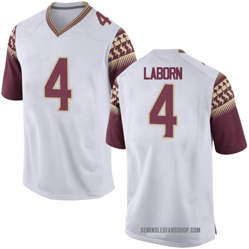 Youth Nike Khalan Laborn Florida State Seminoles Replica White Football College Jersey
