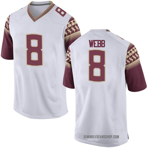 Youth Nike La'Damian Webb Florida State Seminoles Game White Football College Jersey