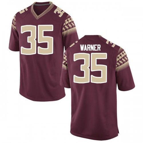 Youth Nike Leonard Warner III Florida State Seminoles Replica Garnet Football College Jersey
