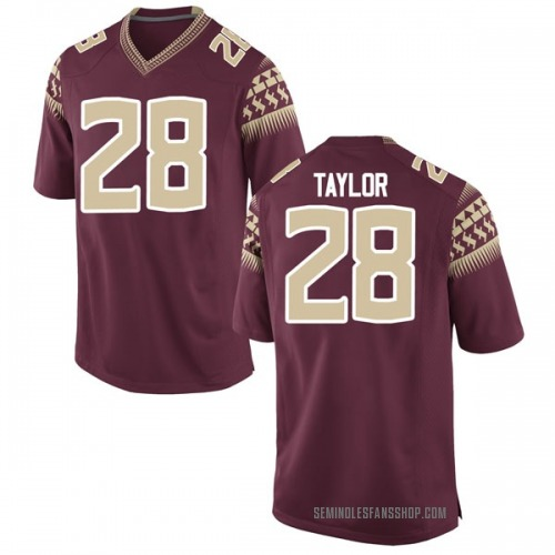 Youth Nike Levonta Taylor Florida State Seminoles Game Garnet Football College Jersey