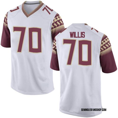Youth Nike Lloyd Willis Florida State Seminoles Game White Football College Jersey