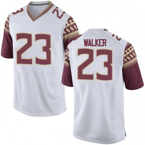 Youth Nike M.J. Walker Florida State Seminoles Game White Football College Jersey