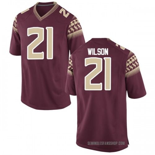Youth Nike Marvin Wilson Florida State Seminoles Game Garnet Football College Jersey