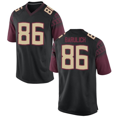 Youth Nike Michael Barulich Florida State Seminoles Game Black Football College Jersey