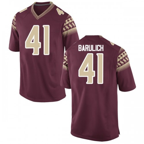 Youth Nike Michael Barulich Florida State Seminoles Replica Garnet Football College Jersey