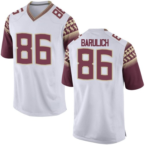 Youth Nike Michael Barulich Florida State Seminoles Replica White Football College Jersey
