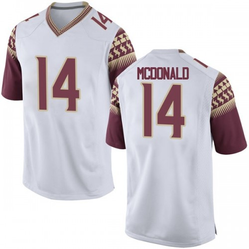 Youth Nike Nolan McDonald Florida State Seminoles Replica White Football College Jersey