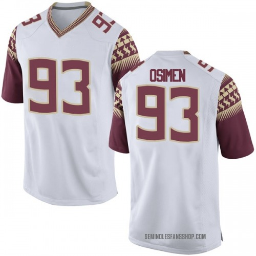 Youth Nike Peter Osimen Florida State Seminoles Game White Football College Jersey
