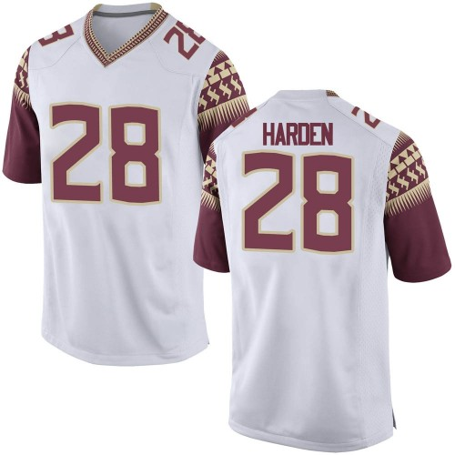 Youth Nike Reggie Harden Florida State Seminoles Game White Football College Jersey